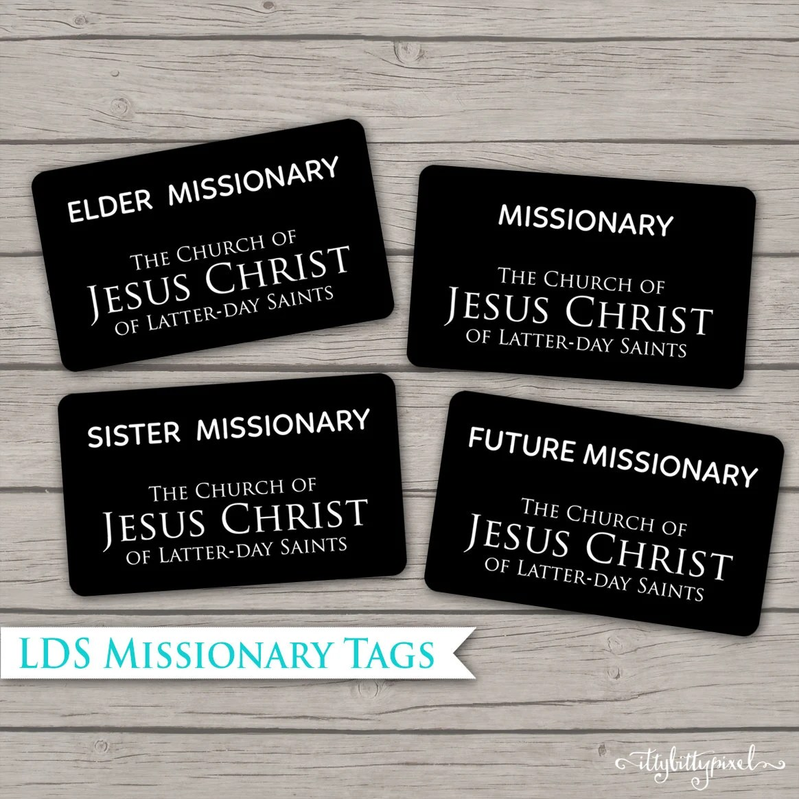 photo about Future Missionary Tag Printable named Custom made Lds Missionary Track record Tags - Studying Mars