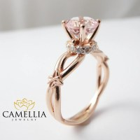 Peach Pink Morganite Engagement Ring 14K Rose by ...