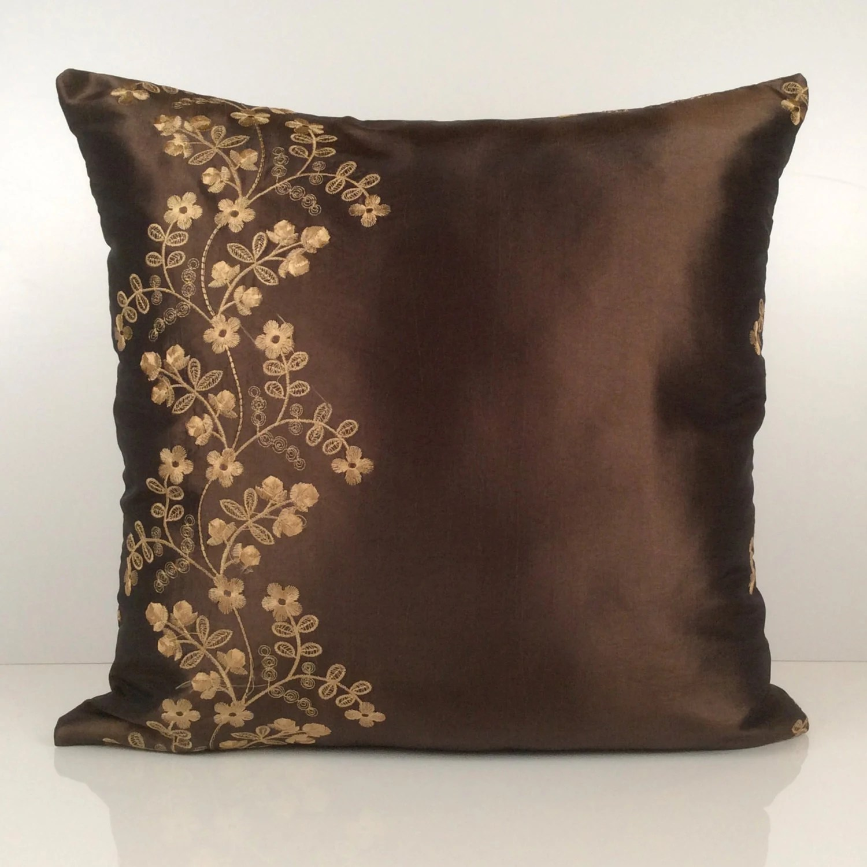 Chocolate Brown Pillow Throw Pillow Cover Decorative Pillow