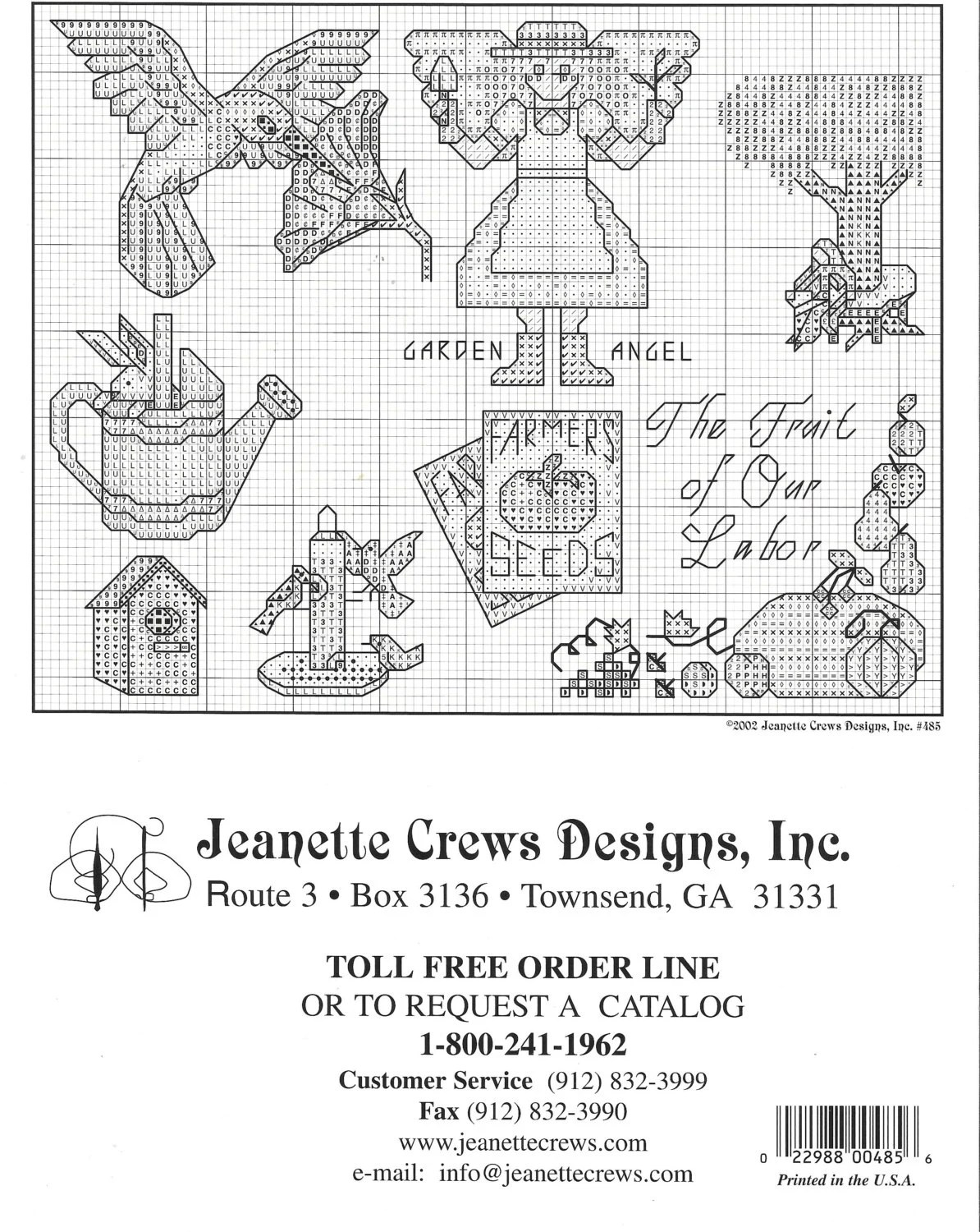 Garden Delights, Cross Stitch Charts, Jeanette Crews