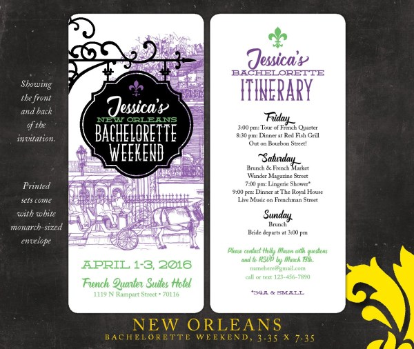 20 New Orleans Bachelor Party Invitation Pictures And Ideas On