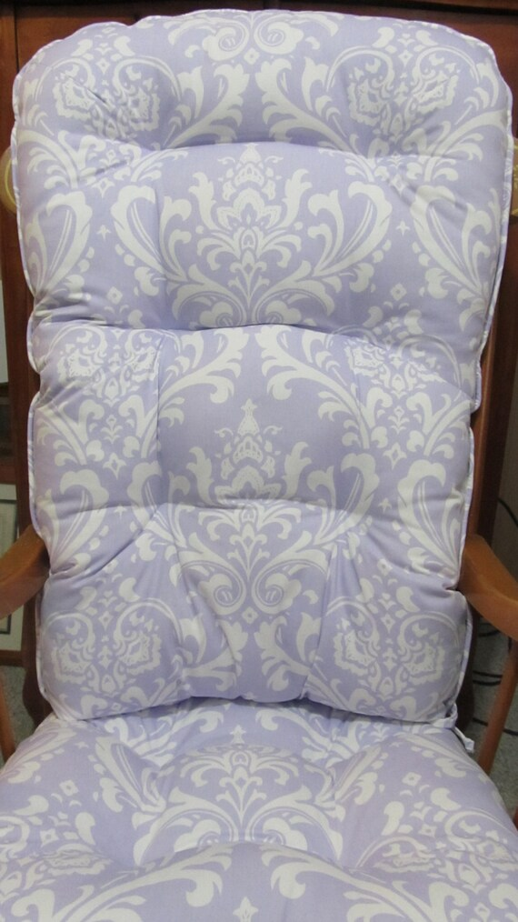 patio chair cusions art deco arm rocking or glider cushion set in lavender by cottageaccent