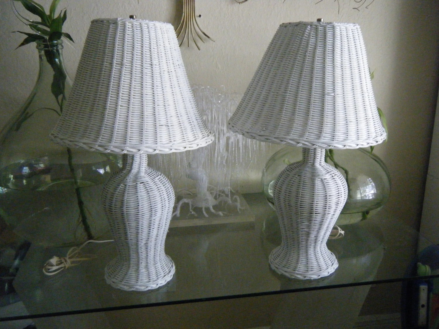 Wicker Lamp Shade Etsy