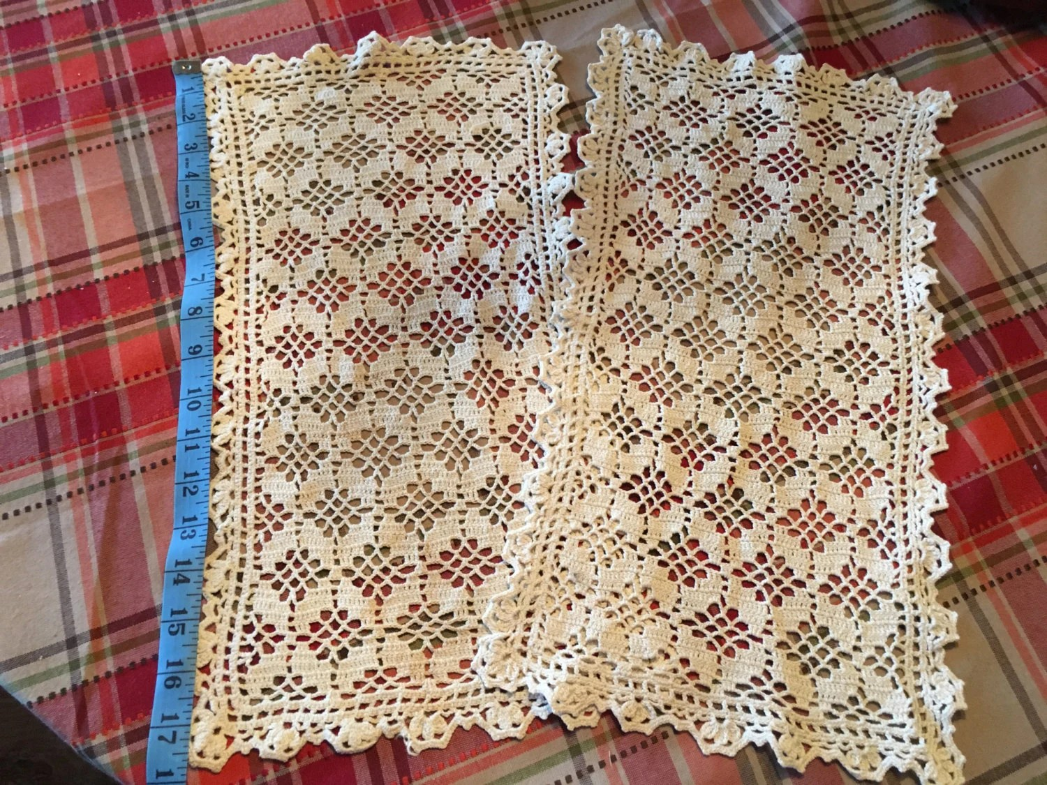 chair arm covers pattern sofa walmart vintage hand crocheted