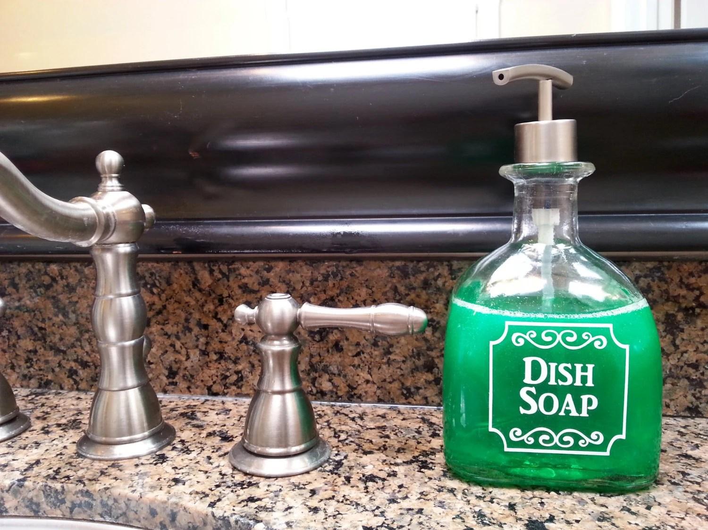 kitchen dish soap dispenser delta touchless faucet patron dispensers bottle