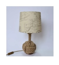 Bosun 01 night lamp made from jute rope nautical lamp marine