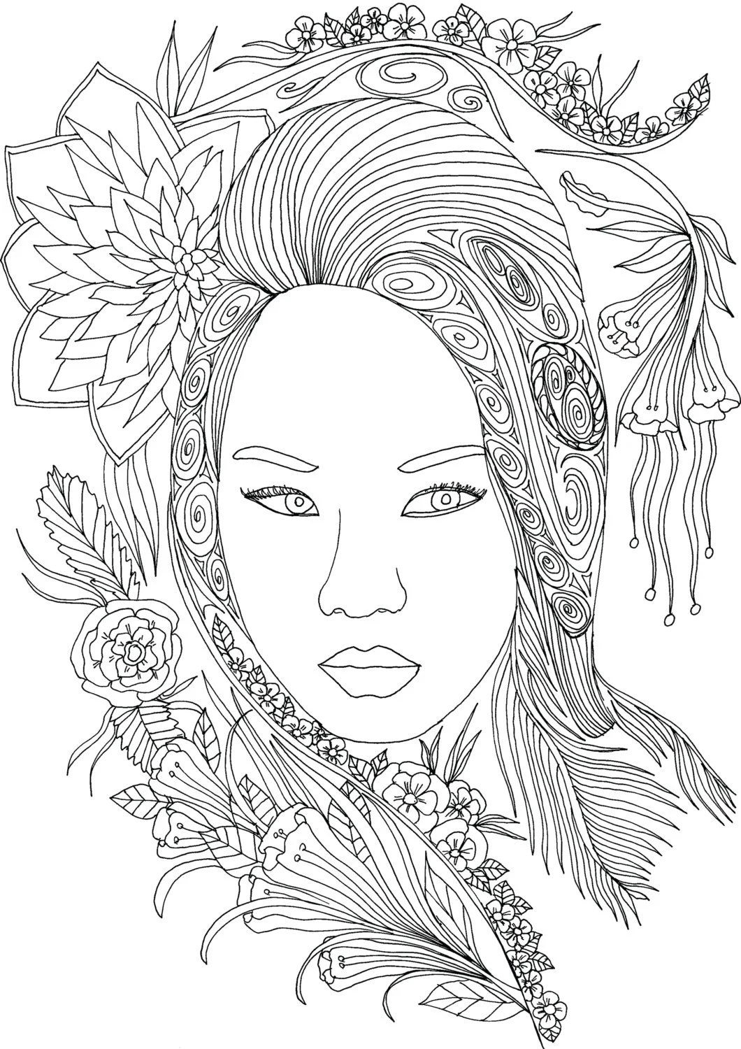 Adult Coloring Book Printable Coloring Pages by