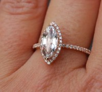 Marquise engagement ring. Rose gold diamond ring engagement