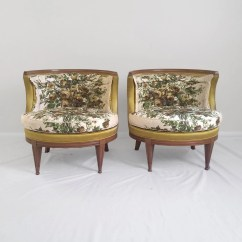 Barrel Accent Chair Ebay Patio Covers 20 Sale 2 Hollywood Regency Back Chairs