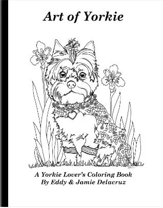 Items similar to Art of Yorkie Coloring Book Volume No. 1