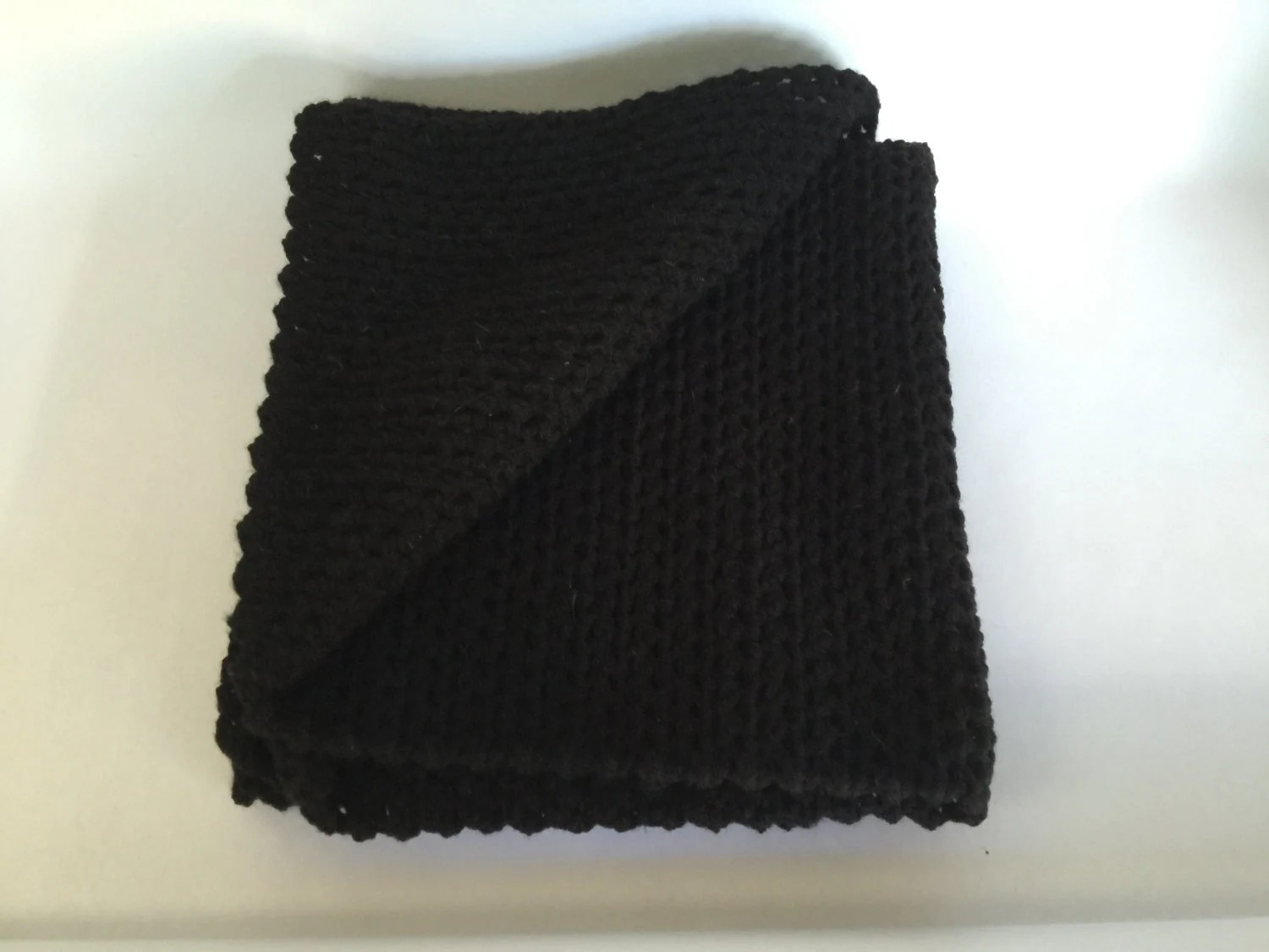 wheelchair blanket baby high chair for eating lap cover office throw work black crochet