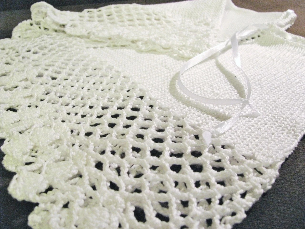 Knitted Christening Gown Knit And Crochet Baptism White