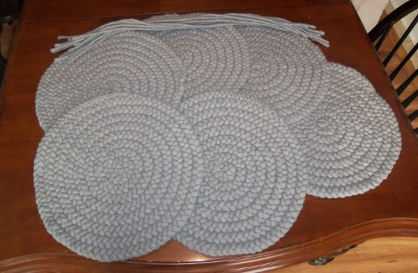 Custom Order Solid Color Braided Wool Chair Pads