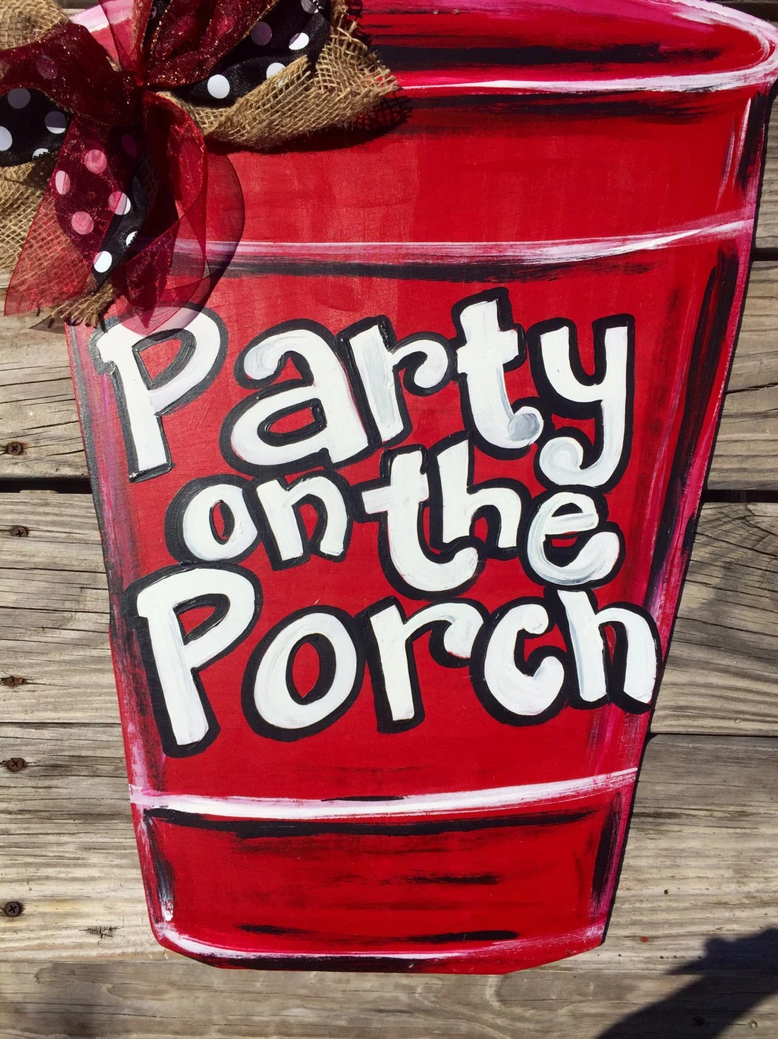 Red Solo Cup door hanger by PaintingBoutiquellc on Etsy