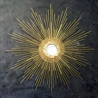 Gold Starburst Mirror / Handmade Sunburst Mirror 27in 1006 or