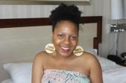 natural hair earrings wood