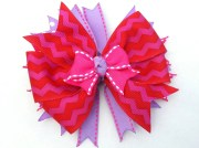 red pink and purple hair bow hot