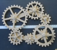 WORKING GEARS Wood Gears Gear Wall Kinetic Art Steampunk
