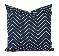 Two OUTDOOR Pillows Navy White Pillow Cover by ...