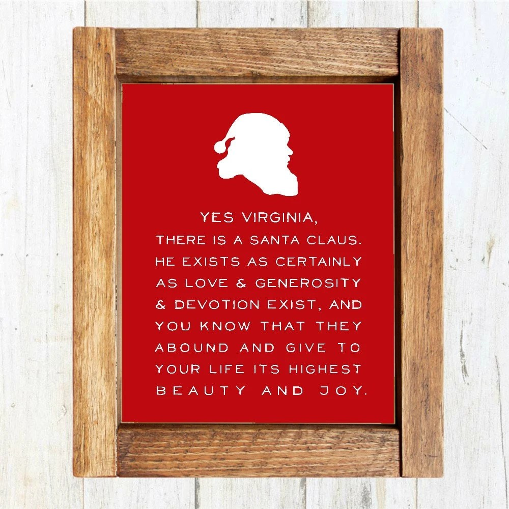 Christmas Printable Yes Virginia There Is A Santa Claus
