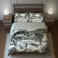 Skull Bedding, Sugar Skulls Duvet Cover Comforter Set