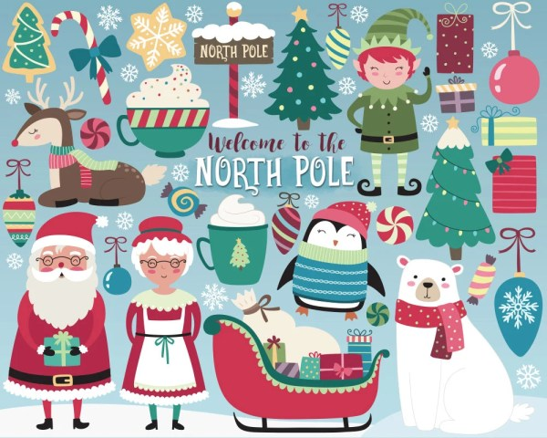 Christmas Clipart North Pole Clipart Holiday Clipart