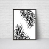 Palm Leaves Wall Art Print Beach House Leaf Decor Printable