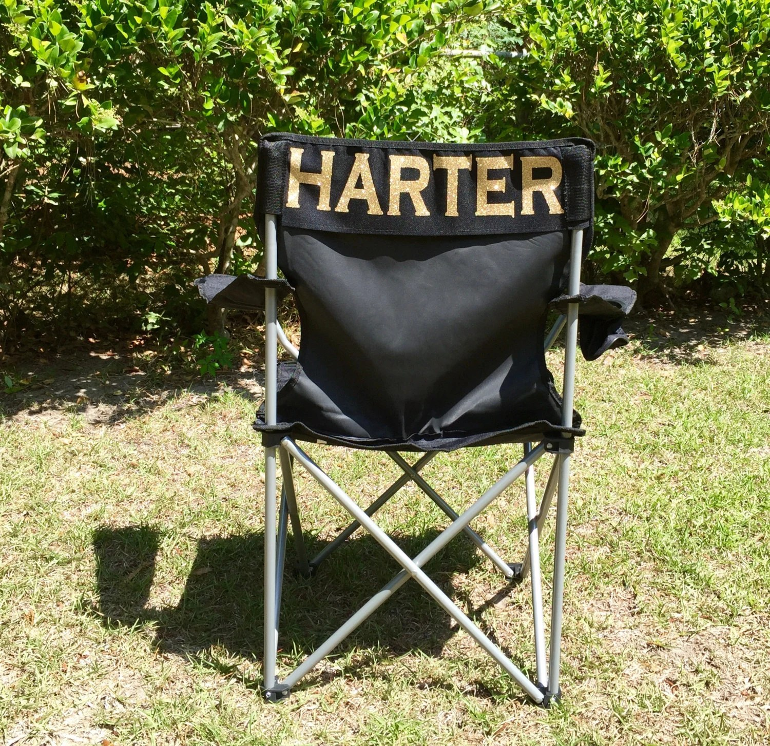 personalized folding chair white mesh office canada monogrammed christmas gifts