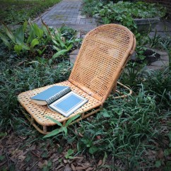 Canoe Chair White Executive Office Vintage Bamboo And Wicker Folding Camping
