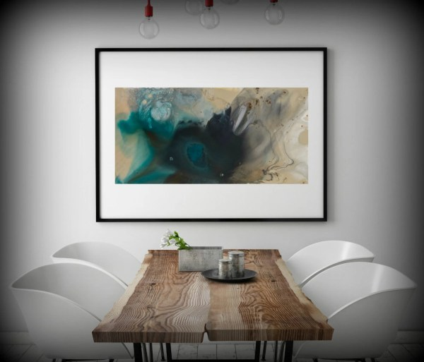 Wall Art Print Large Canvas Abstract