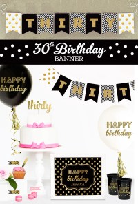 Dirty Thirty Banner - Dirty Thirty Decorations - Cheers to ...