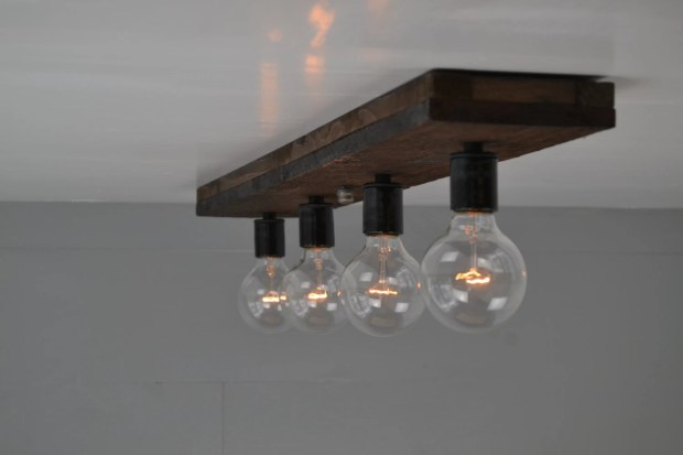 Wood Flush Mount Ceiling Light Fixtures