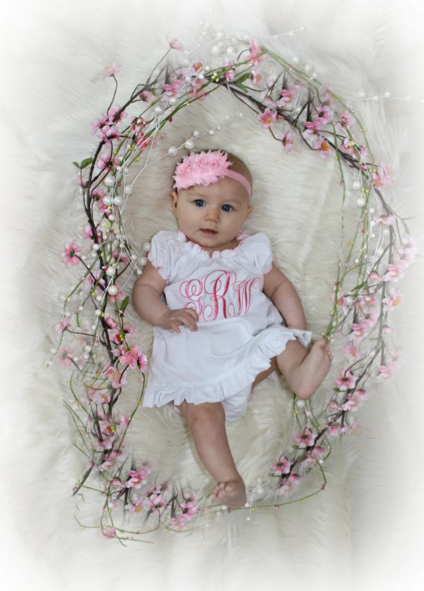Monogram Girl Dress Newborn Baby Clothes