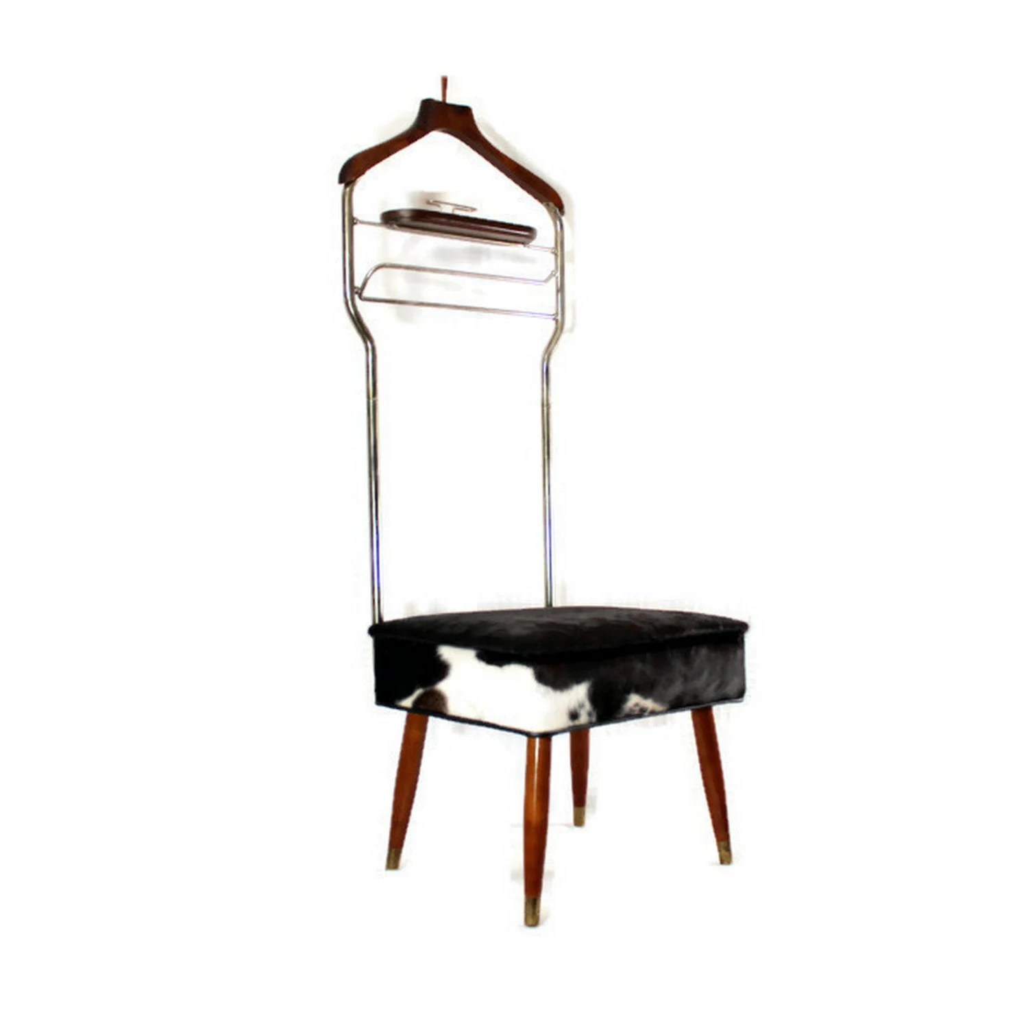 Mens Valet Chair Vintage Mens Valet Butler Chair Upcycled Hair On Cowhide