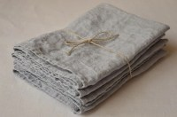 SET 4 Jacquard LINEN Dinner Napkins Dusty Blue Linen by ...