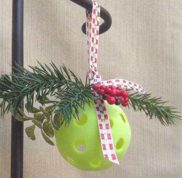 Pickleball Mistletoe Ornament