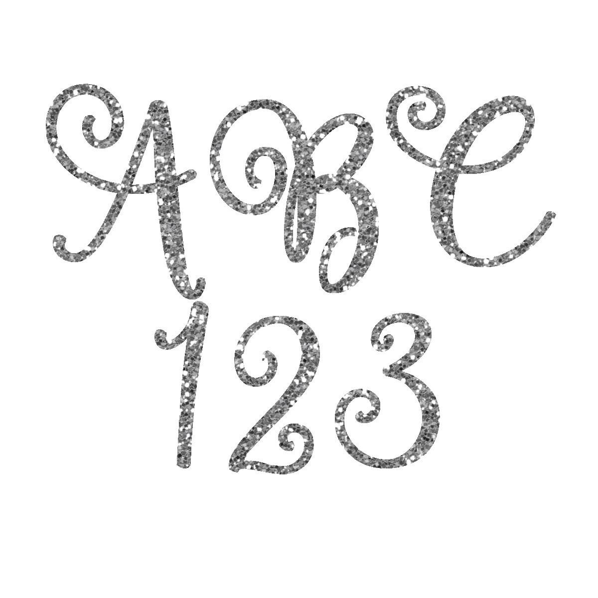 Silver Glitter Alphabet Glitter Letters Glitter Clipart