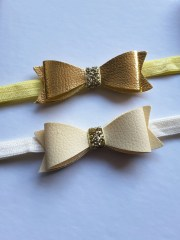 faux leather bows meilanysheadbands