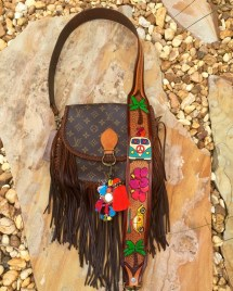 Vintage Swag Boho Style Peace Love & Hippie Vans Fringed