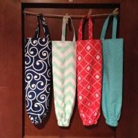 Fabric Plastic Bag Holder Kitchen Organizer Kitchen