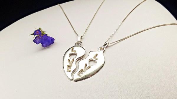Heart Pendant Necklace Friend