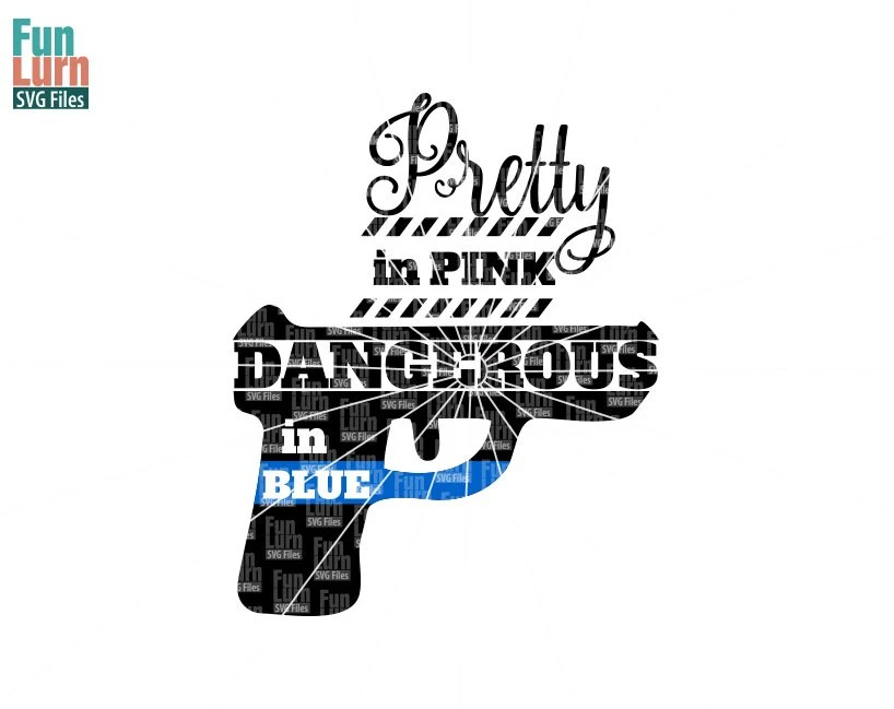 Pretty in pink, dangerous in blue SVG, Law enforcement