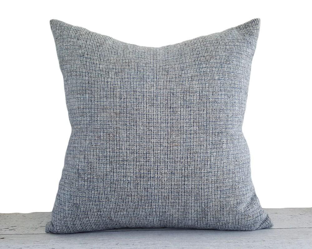Blue Tweed Pillow Covers Light Blue Pillow Blue Tan Grey