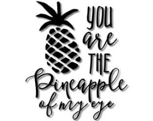 Printable Pineapple Stencil 2