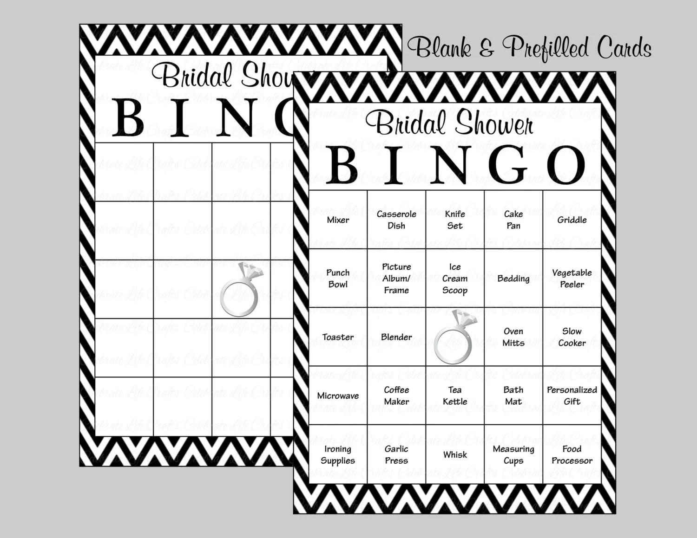 100 Bridal Bingo Cards Blank Amp 100 By Celebratelifecrafts On Etsy