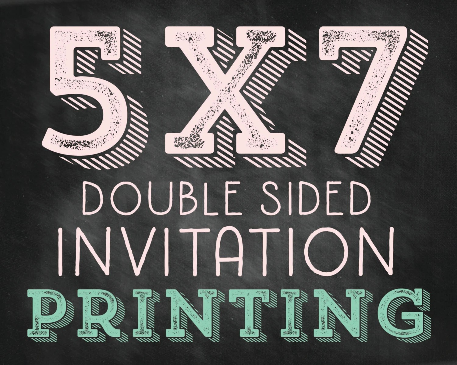 5x7 Double Sided Invitation Printing Including Envelopes
