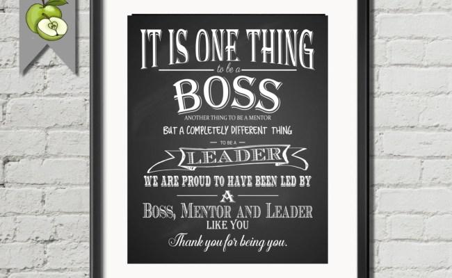 Boss Retirement Leaving Appreciation Gift Boss Week Thank