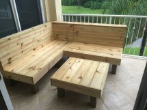 Sectional Rustic Wood Patio Benches And Table