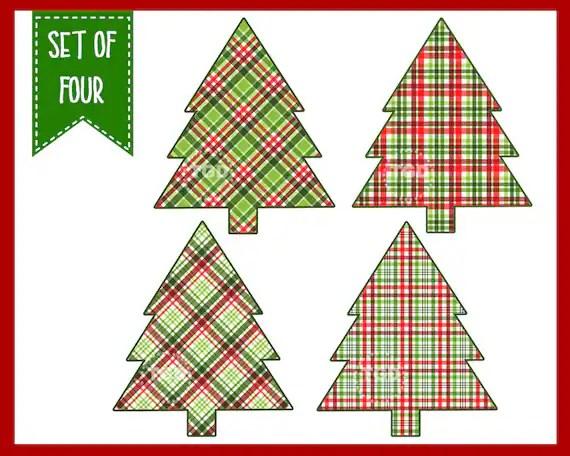 christmas tree clip art plaid