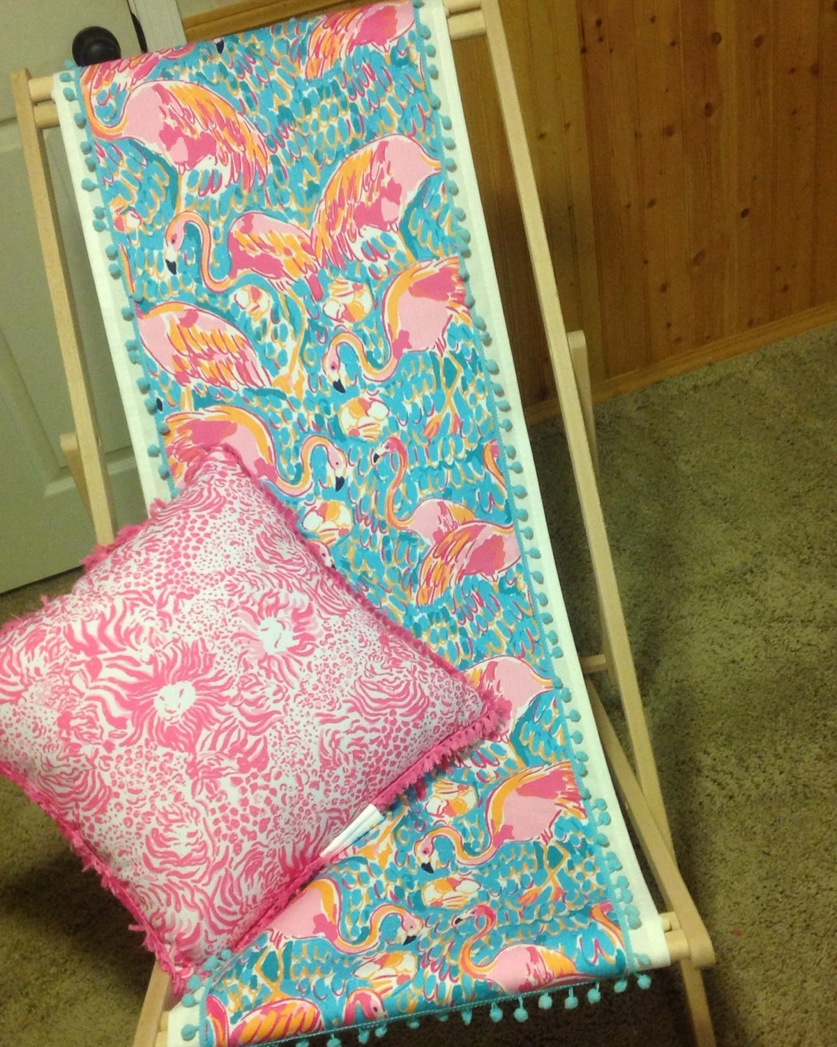 lilly pulitzer chair high table with chairs inspired folding beach